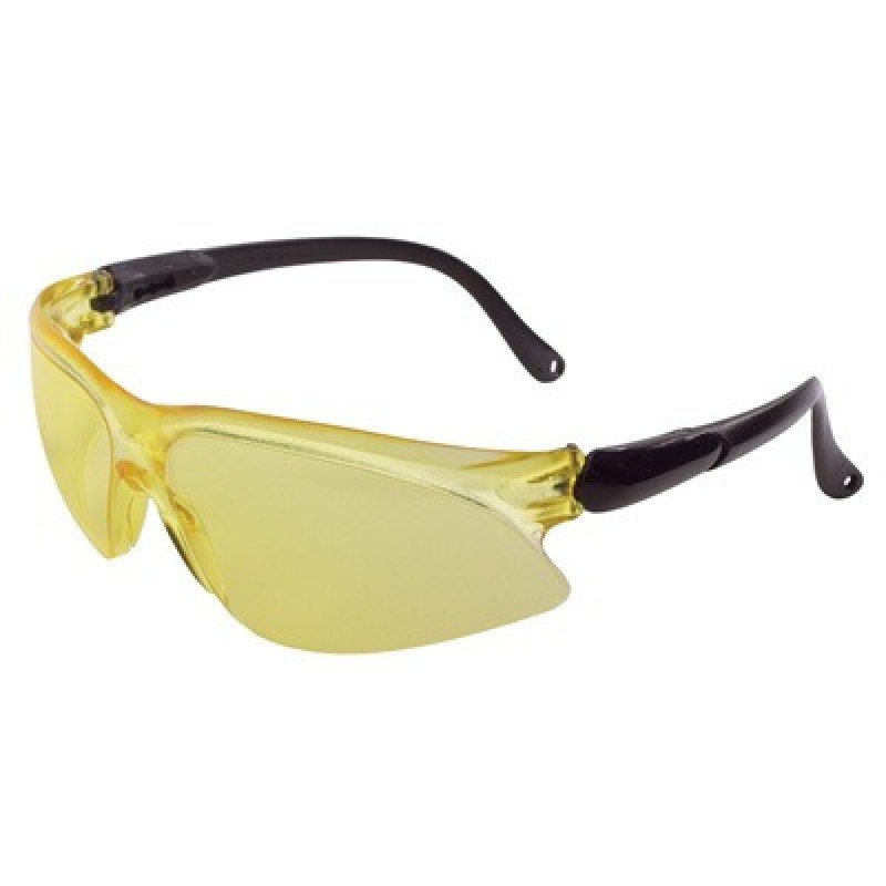 Jackson Safety Visio Safety Glasses-Black Temples, Amber Lens 12 Pairs