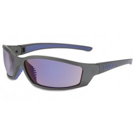 Solar Pro Safety Glasses with Blue Mirror Lens 10/Box