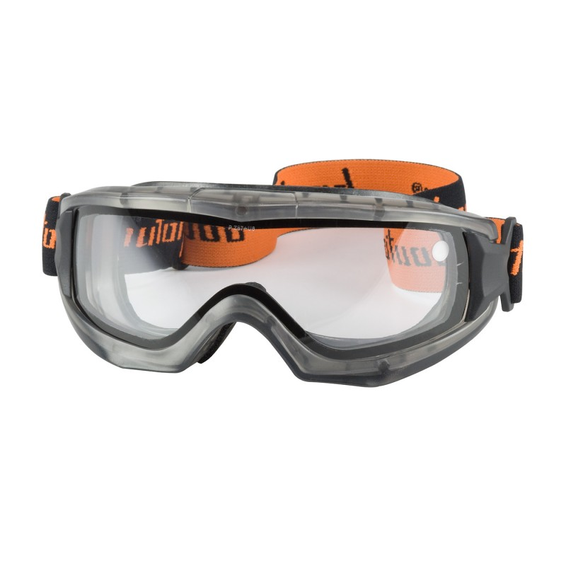 PIP 251-65-0020 Reaction Indirect Vent Goggle Clear Double Lens, Anti-Scratch/Anti-Fog