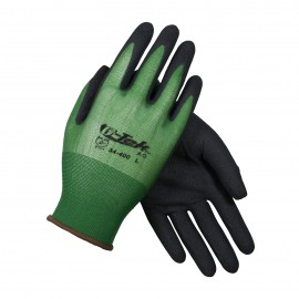 PIP 34-400/M G-Tek Seamless Knit Nylon Glove with Nitrile Coated MicroSurface Grip on Palm & Fingers 18 Gauge Medium 12 DZ