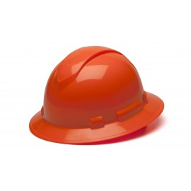Pyramex HP54141 Ridgeline Full Brim Hard Hat   Orange Color - 12 / CS
