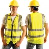 OccuLux Solid Full Zippered Safety Vest