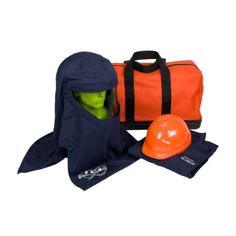 PIP PPE 3 Arc Flash Kit - 33 Cal/cm2 Coveralls Carrybag Color Blue