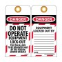 NMC LOTAG11-25 Danger Do Not Operate Equipment Lock-Out Tag 25/Pack