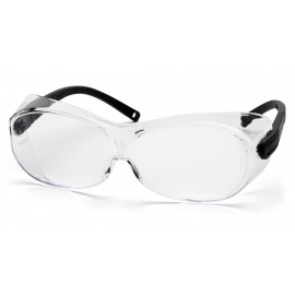 Pyramex  OTS XL  Black Temples Clear AntiFog Lens  Safety Glasses  12/BX