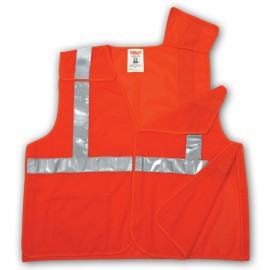 Tingley V70529.4X-5X Class 2 5 Point Breakaway Vest Fluorescent Yellow-Green Polyester Mesh Hook & Loop