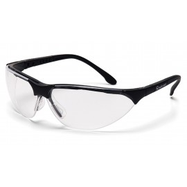 Pyramex Safety - Rendezvous - Black Frame/Clear Anti-Fog Lens Polycarbonate Safety Glasses - 12 / BX