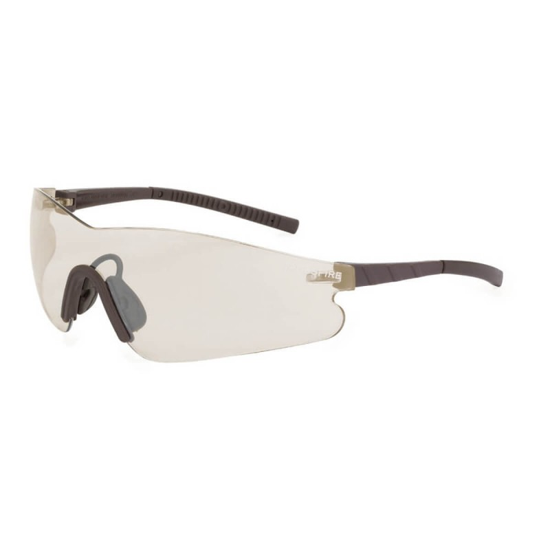Radians Mini Blade Brown Indoor/Outdoor Brown Safety Glasses 12 PR/Box