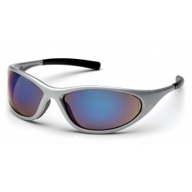 Pyramex Safety - Zone II - Silver Frame/Blue Mirror Lens Polycarbonate Safety Glasses - 12 / BX