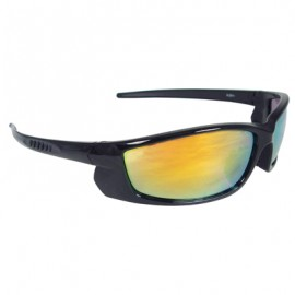 Voltage Safety Glasses - Black Frame, Electric Orange Lens