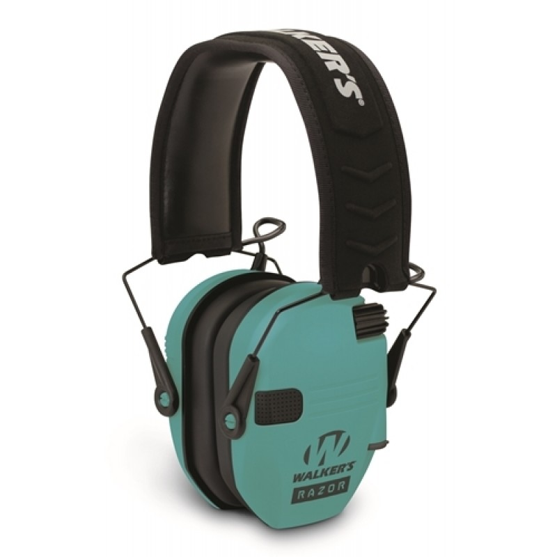 Walker's Hearing GWP-RSEM-TL Razor Slim Shooter Folding Muff Series Teal