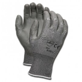 MCR Memphis 9666 13 Gauge Nylon Shell, Gray PU Palm & Fingers Gray (12 PR)
