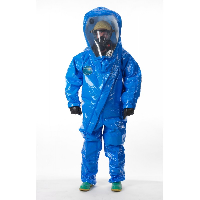 Lakeland Interceptor Deluxe Encapsulated Suit - Front Entry - Wide View Face Shield