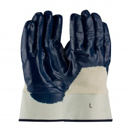 PIP 56-3153 PIP Nitrile Dipped Glove with Jersey Liner and Smooth Finish on Palm, Fingers & Knuckles Plasticized Safety Cuff Large 6 DZ