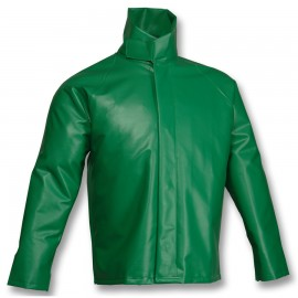 Tingley J41008.3X Safetyflex Jacket Green Storm Fly Front High Collar