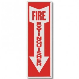 Brooks Fire Extinguisher Plastic Sign 4 in x 12 in
