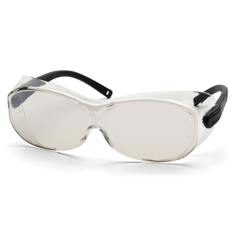Pyramex Safety - OTS XL - Black Temples/Indoor/Outdoor Mirror Lens Polycarbonate Safety Glasses - 12 / BX