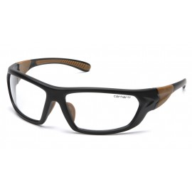 Carhartt Carbondale Clear Lens  Black/Tan Frame Safety Glasses 12/BX