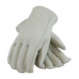 Premium Grade Top Grain leather with Fleece Pile Lined Glove - Seams-Out