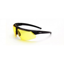 Honeywell S2852HS Uvex Avatar Black/Black Frame Amber Lens Hydroshield Anti-Fog Coating 10/Box