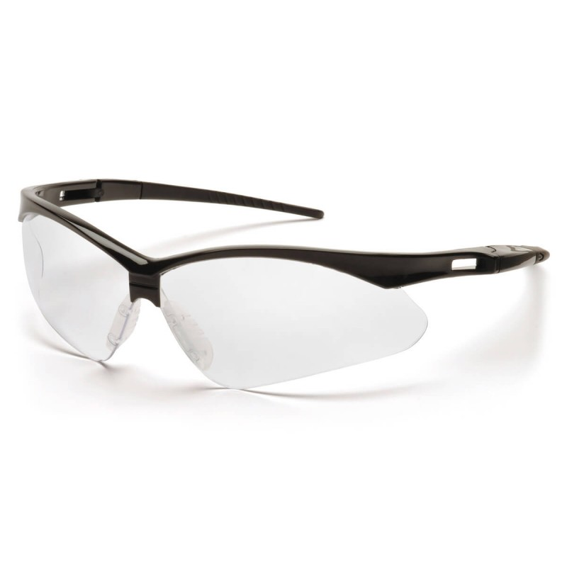 Pyramex Safety - PMXTREME - Black Frame/Clear Lens with Black Cord Polycarbonate Safety Glasses - 12 / BX