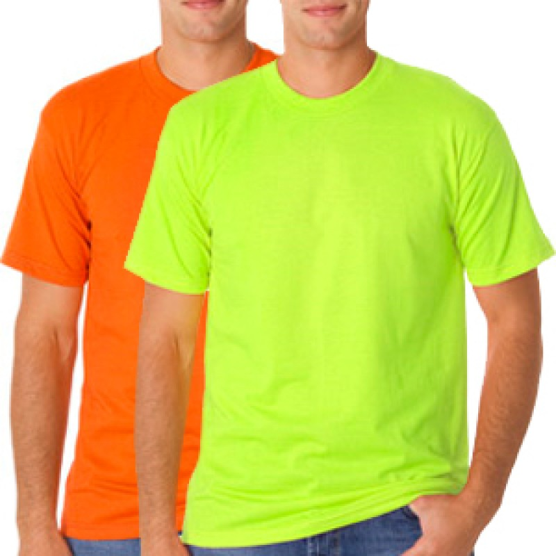Safety T Shirts 50 50 Poly Cotton Blend Bayside High Visibility