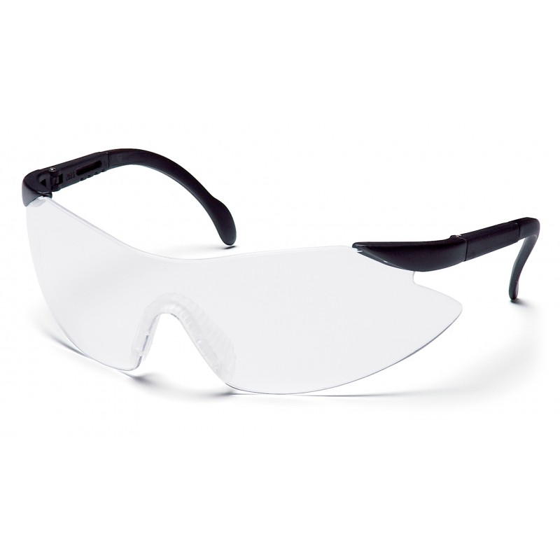 Pyramex Safety - Legacy - Black Temples/Clear Lens Polycarbonate Safety Glasses - 12 / BX