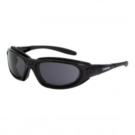 Radians Journey Man Dark Smoke AntiFog Black Safety Glasses 12 PR/Box