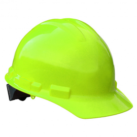 Radians Granite Cap Style 4 Point Pinlock Suspension Hard Hat - Hi Viz Green Color (1 Each)