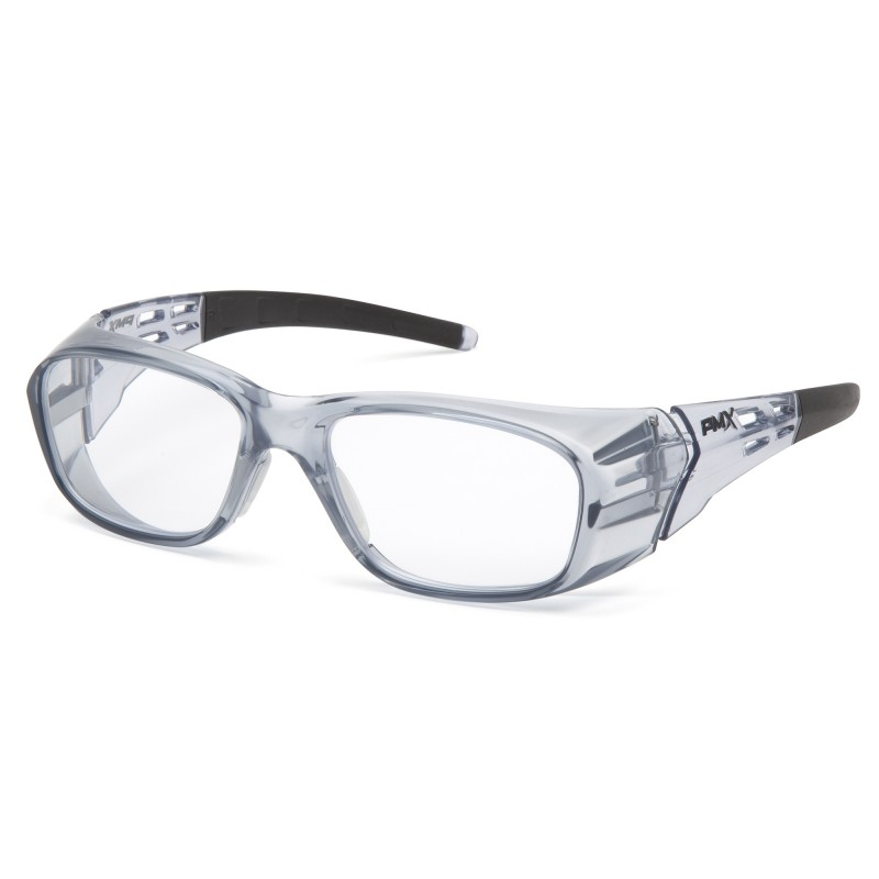 Pyramex Emerge Plus  Gray Frame/Clear full +3.0 reader Lens  Safety Glasses  6 /BX