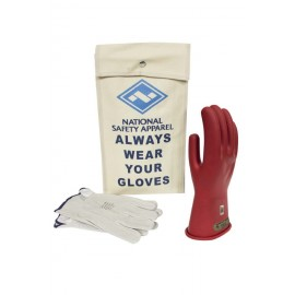 NSA KITGC00-R Class 00 Red Rubber Voltage Glove Kit