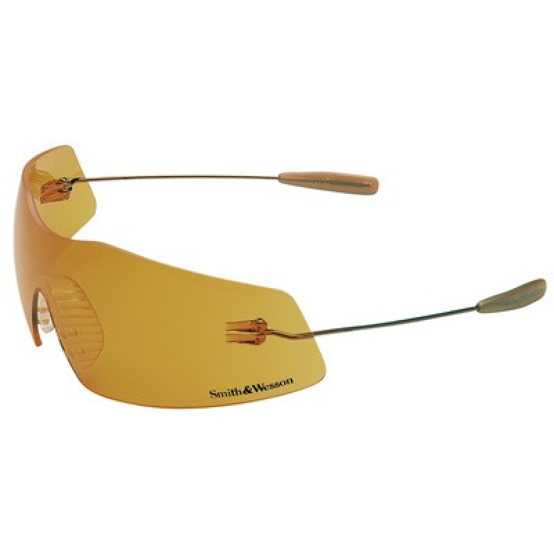 Phantom Safety Glasses with Copper Temples and Orange Lens