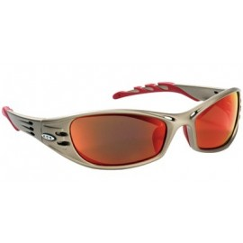 3M™ Fuel™ Protective Eyewear 11640-00000-10 Red Mirror Lens, Metallic Sand Frame 10 EA/Case