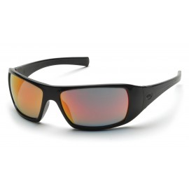 Pyramex  Goliath  Black Frame/Ice Orange Lens  Safety Glasses  12/BX