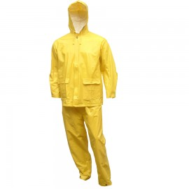 Tingley S62217.MD Tuff-Enuff Plus Suit Yellow 2 Pc Jacket Zip Front Snap Fly Front Pants