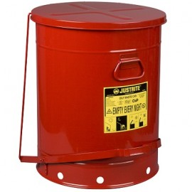 Red Oily Waste Can - 21 Gallon