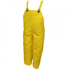 Tingley O56047.MD DuraBlast Overall Yellow Plain Front Hook & Loop Take-Ups