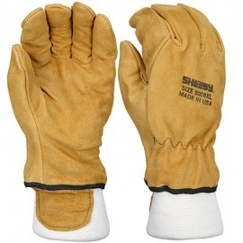 Shelby Tan Pigskin, Wristlet, CAL-OSHA Structural Fire Gloves 6 Pair
