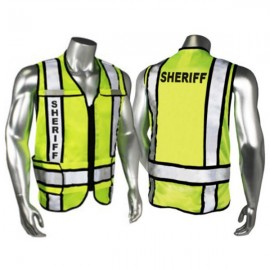 Radians Zip-N-Rip ANSI 207 Safety Vest - Sheriff Logo