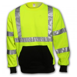 Tingley S78022.2X Class 3 Sweatshirt Fluorescent Yellow-Green