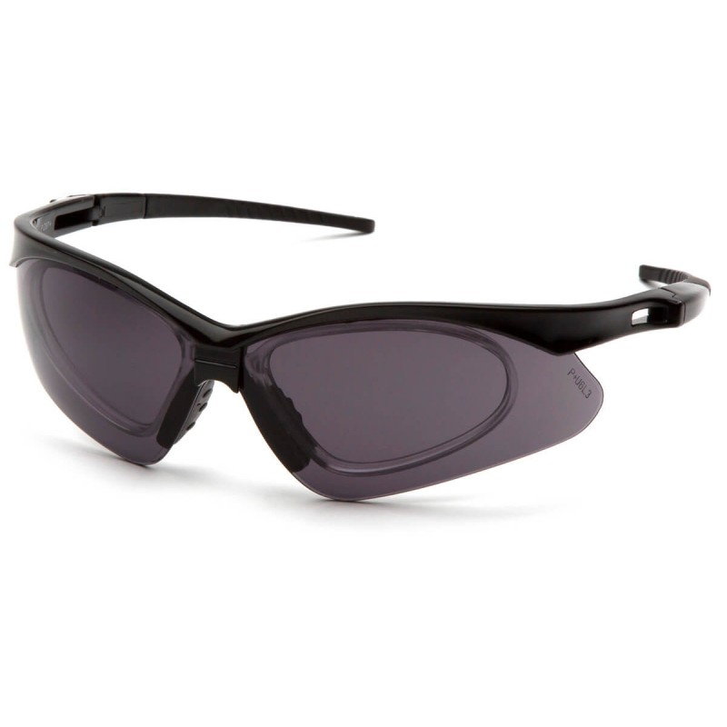 Pyramex Safety - PMXTREME - Black Frame/ Gray anti-fog lens with RX insert Polycarbonate Safety Glasses - 6 / BX
