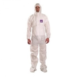Ansell MicroChem ALPHATEC 68-1500 Serged Hooded Booted Coverall (25/CS)