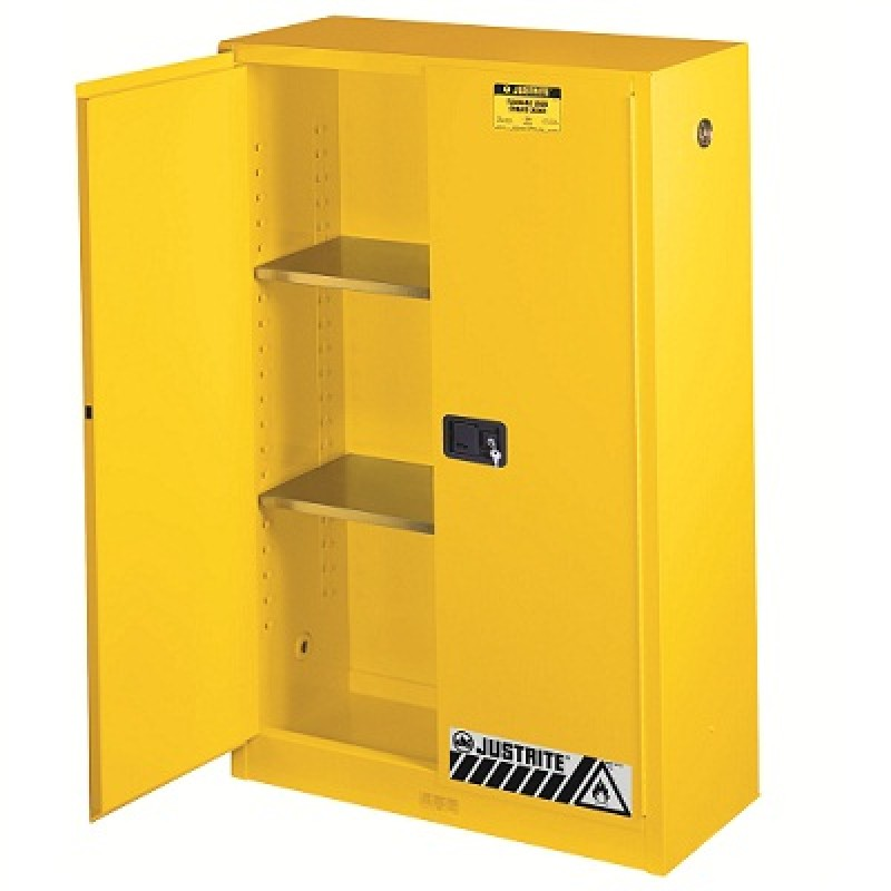 Bon Justrite Sure Grip EX Safety Cabinet   45 Gallon