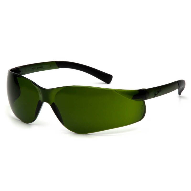 Pyramex Safety - Ztek - Green Tinted Temples/3.0 IR Lens Polycarbonate Safety Glasses - 12 / BX