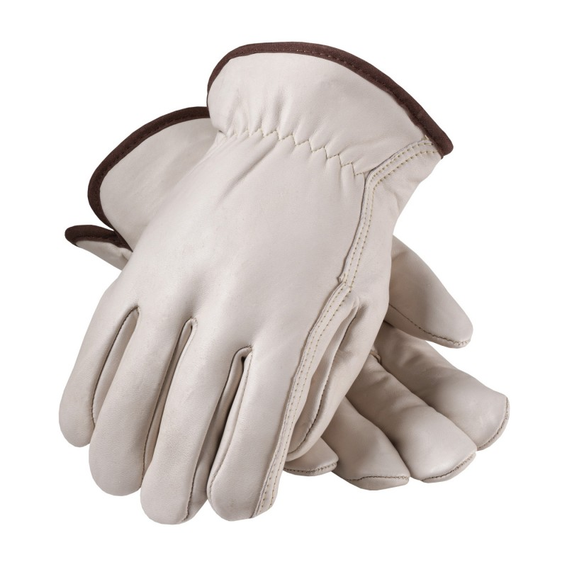 Regular Grade Top Grain Leather with Red Foam Lining Glove - Straight Thumb 12 Pairs