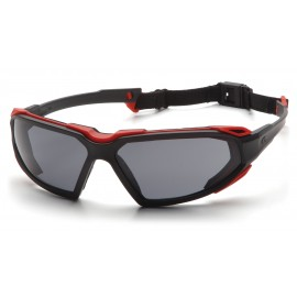 Pyramex  Highlander  BlackRed Frame/Gray AntiFog Lens  Safety Glasses  12/BX