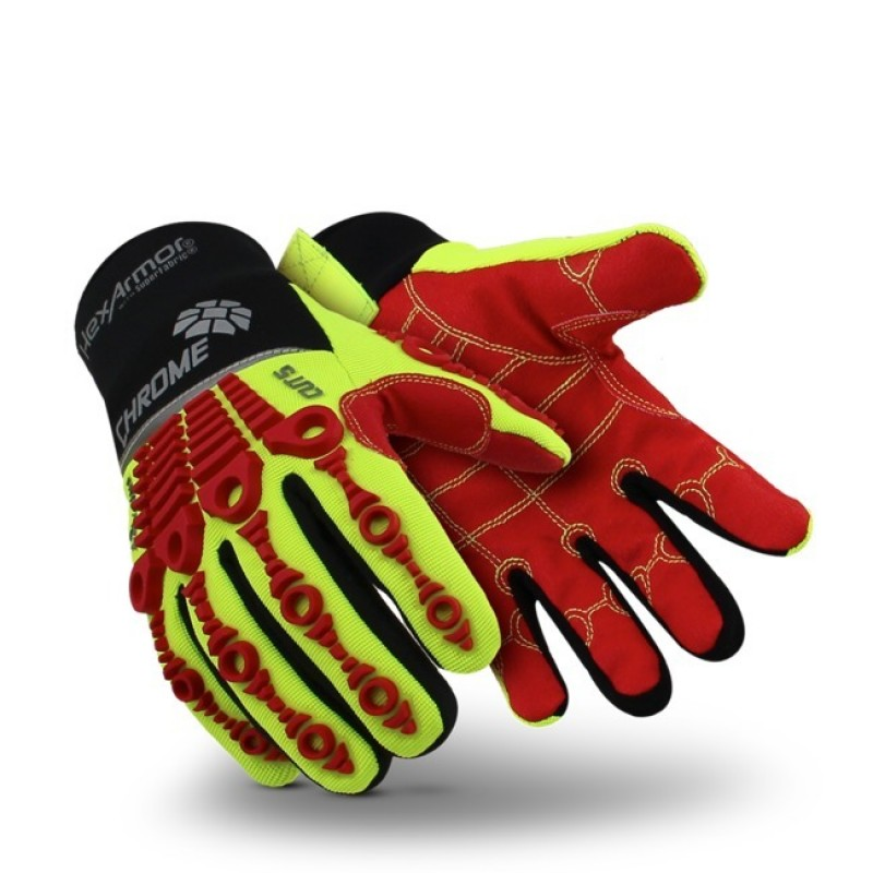 12 X Pairs Ultimate Industrial R125 Men Work Gloves PVC Coated Knitted Wrist Red