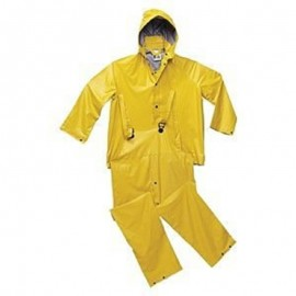 Tingley Tuff-Enuff Suit Gold 3 Pc Jacket Storm Fly Front Detachable Hood Plain Front Overalls Retail Packed