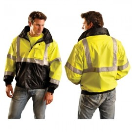 OccuLux High Visibility Black Bottom Bomber Jacket - Class 3