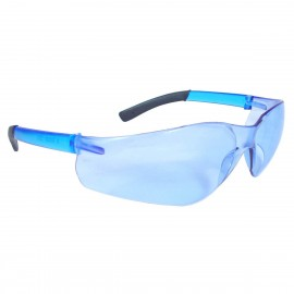 Radians Rad-Atac - Light Blue Anti-Fog Lens Safety Glasses Frameless Style Light Blue Color - 12 Pairs / Box